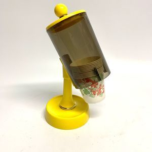 Vintage 1960's Yellow Dixie Cup Holder